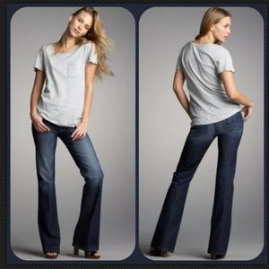 Paige Hollywood Hills Embroidered Bootcut Jeans 28